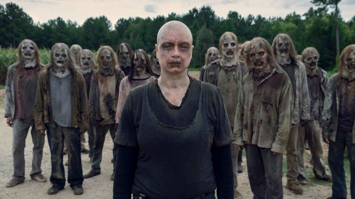 A group of zombies from the show the Walking Dead